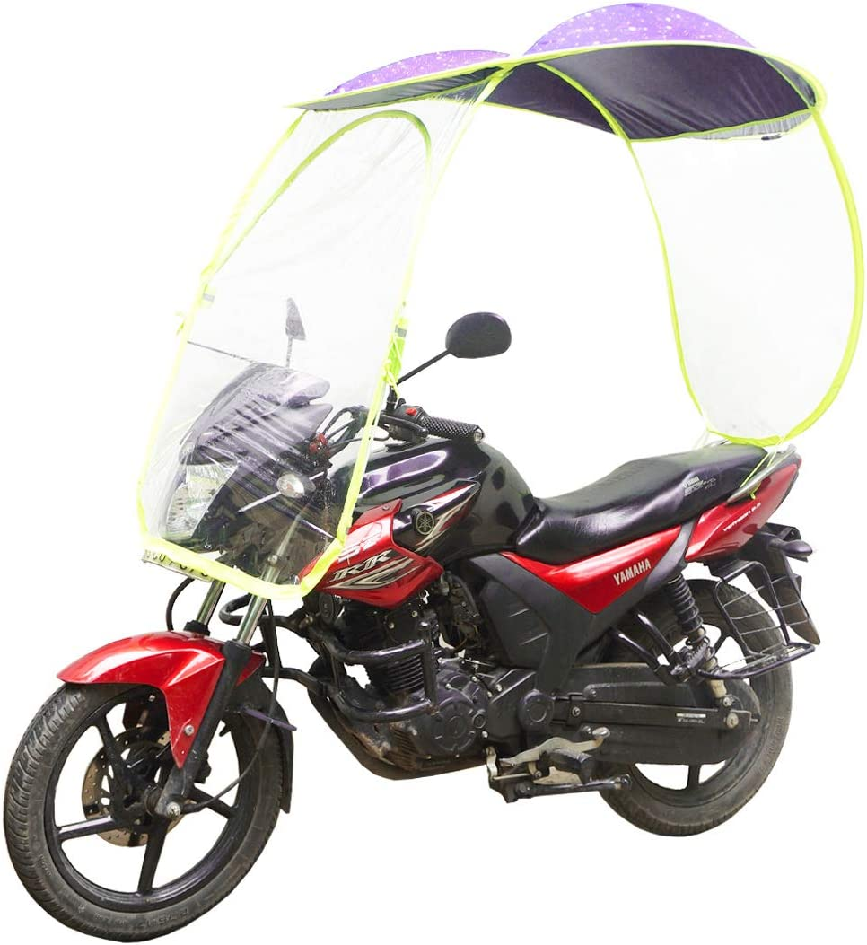 Muren Two Wheeler Waterproof Rainy Bike Shield cover Canopy (Purple):  Amazon.in: Car & Motorbike