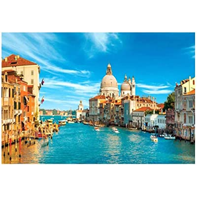 Jigsaw Puzzles for Adults Kids 1000 Pieces Puzzles Large City of Water Venice Puzzles for Family Indoor Game Toys: Toys & Games