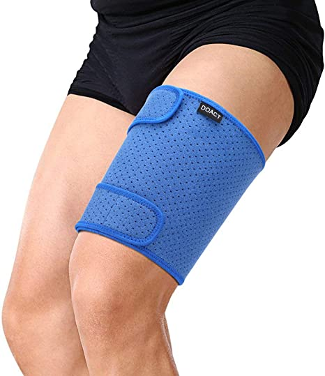 Doact Thigh Brace Support for Hamstring Quad Groin Pain Relief, Adjustable  Compression Sleeve Wrap for Pulled Hamstring, Inflammation, Swelling,  Bruising, Tendon, Torn Muscle: Amazon.co.uk: Health & Personal Care