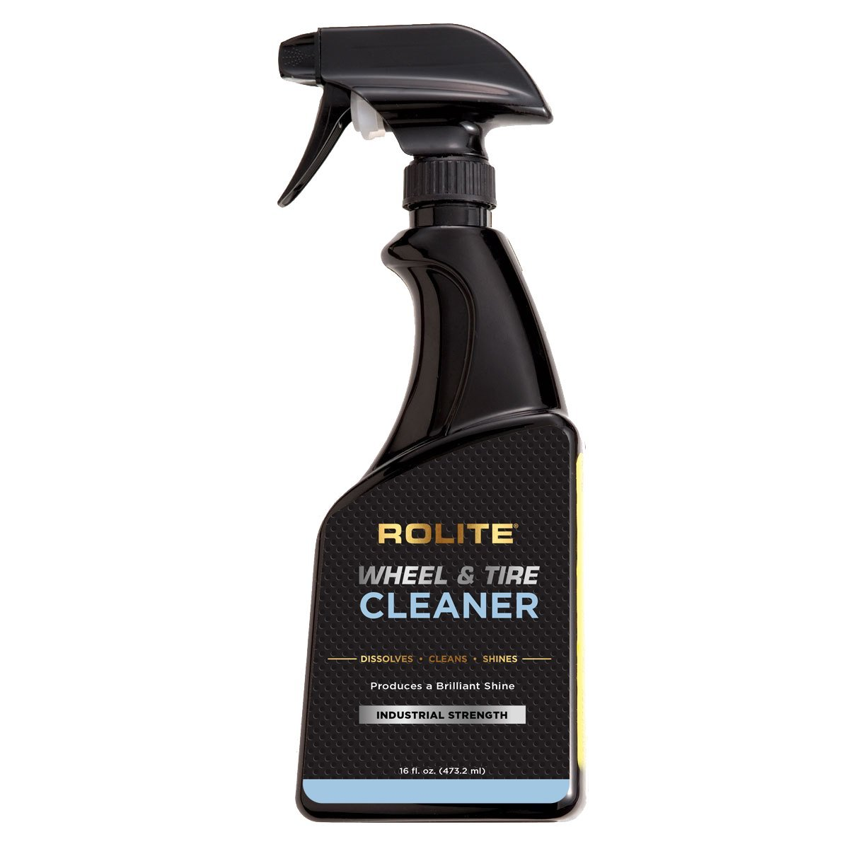 Rolite Wheel and Tire Cleaner (16 fl. oz.) - Acid Free and Safe for All Finishes Including Clear-Coats, Dissolves Brake Dust & Road Grime Instantly