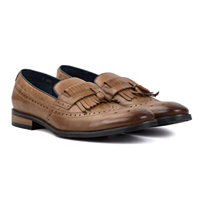 d4a44755a6783 Amazon.com | Goodwin Smith Liberty Mens Fringe Loafer Shoes ...