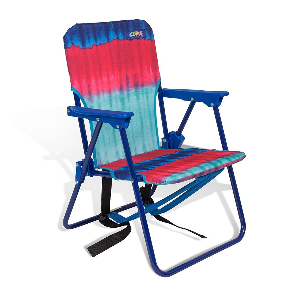 Copa Beach Tie Dye Pink Child Beach Chair with backpack straps