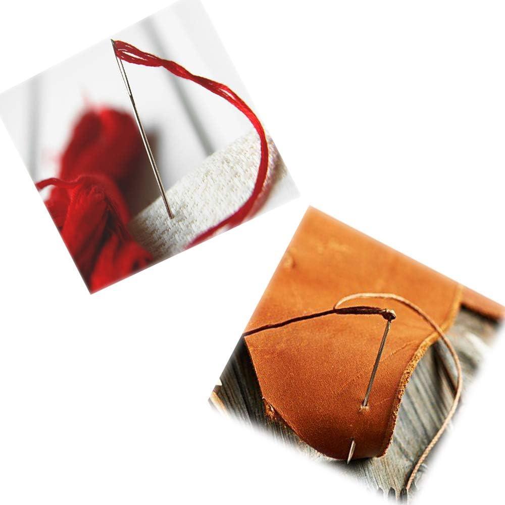 60pcs Large Eye Hand Sewing Needle(3 Sizes), Big Eye Hand Stitching Needles in Clear Storage Tube