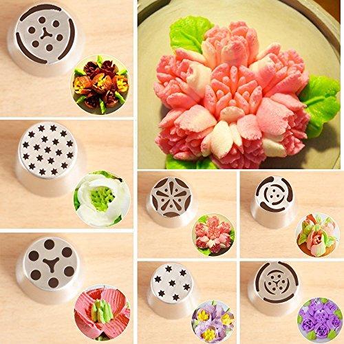 ... Crema glaseado boquillas de acero inoxidable DIY Hornear Herramientas linterna pequeña para decoración de tartas Fondant o cualquier para dulces: ...