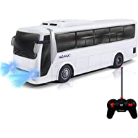 Haktoys Radio Remote Control Bus | High Speed Racing & Model Car Toy Series | with Realistic Beaming Lights and Rubber…