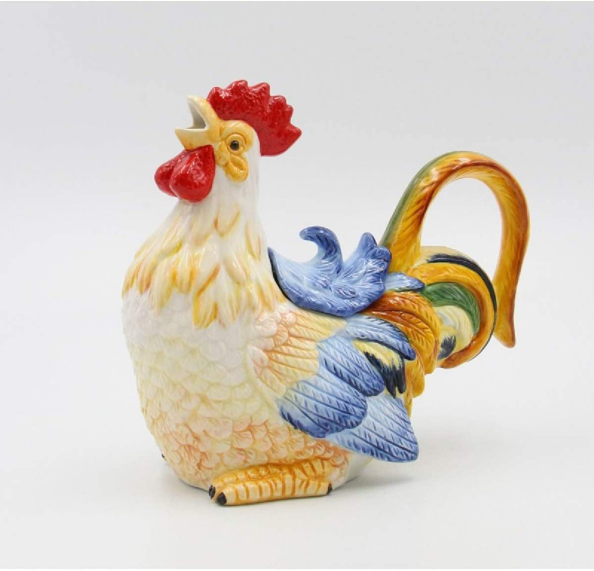 Cosmos Gifts 31984 Rooster Teapot (17 oz), One Size, Yellow