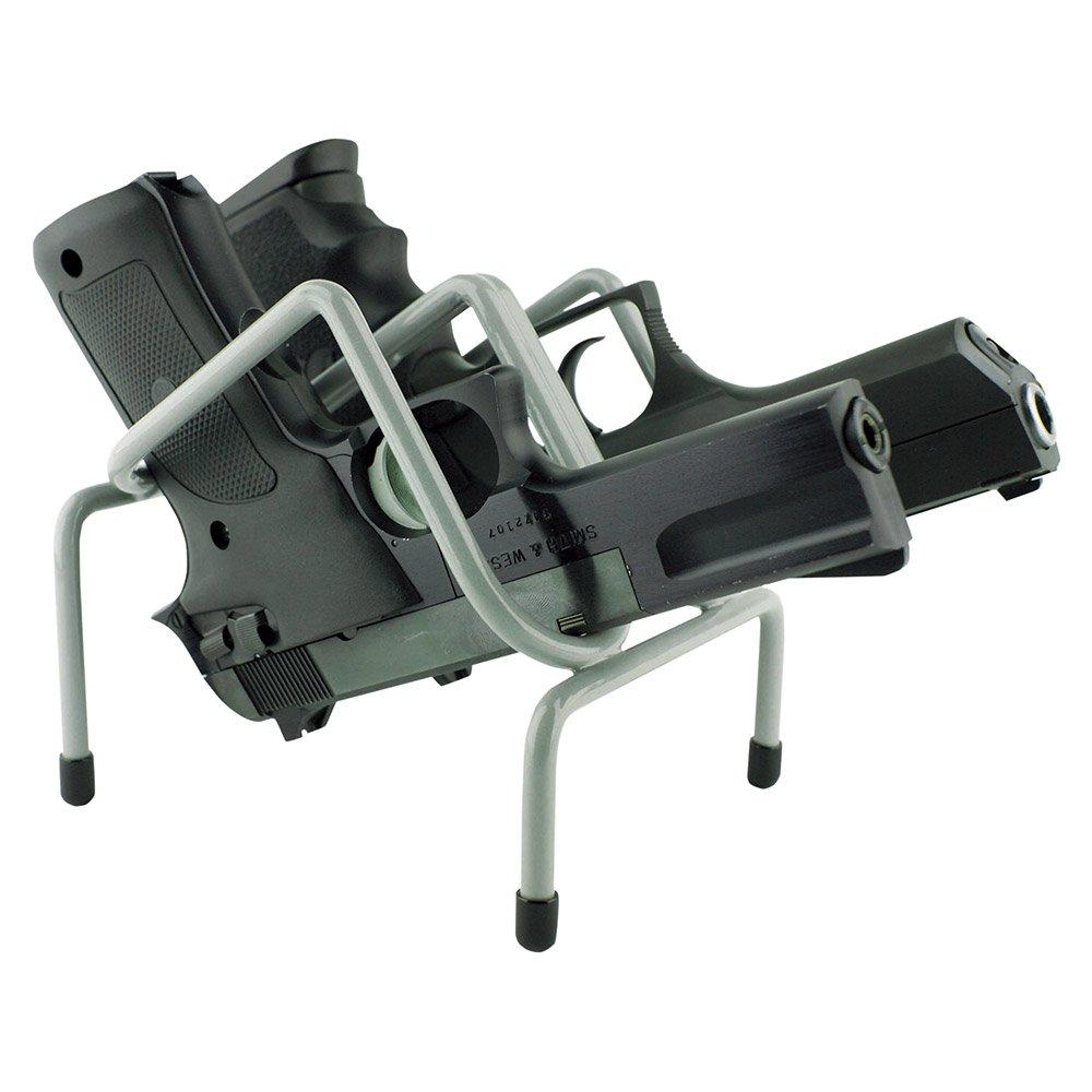 Versatile Rack Vr2 Safe Handgun Rack, 4.75''X5.25''x5.5'', Gray, Holds 2 Guns