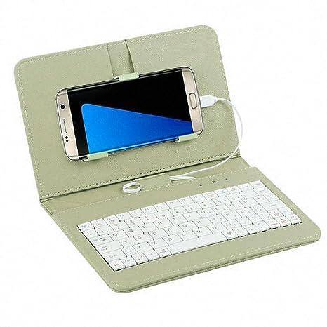 zolimx General Cable Teclado Flip Funda Caja para teléfono móvil con Android (Verde)