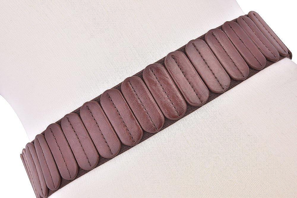 Talleffort Retro Women Wide Elastic Stretch Waist Belt Fashion cute women leather belts for women