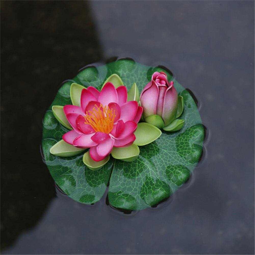 Amazon Taixi Decorative Fake Water Lily Flower Lotus Flower And