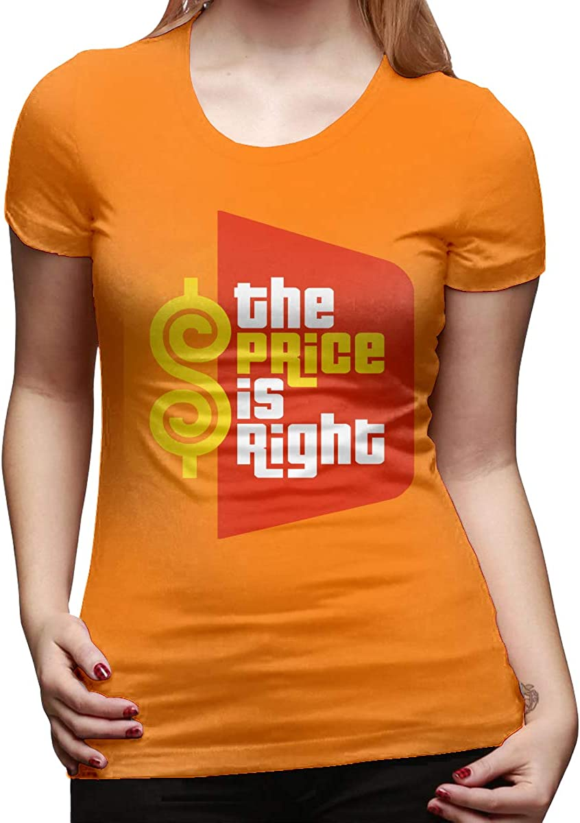 Womens Casual The Price is Right Tee T Shirt Short Sleeve O-Neck Cotton T-Shirt Sports Tops for Teens Plus Size Shirt