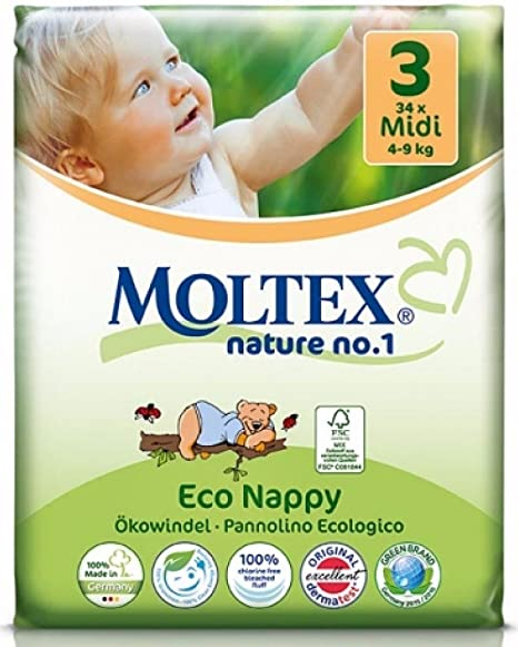 caja de cartón - 136 unidades MOLTEX Nature No1 pañales ecológicos ...