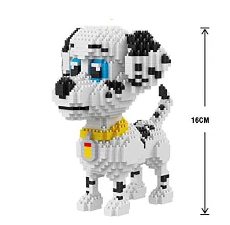 Ngc Lovely Big Spotted Dog Stacking Blocks Building Construction