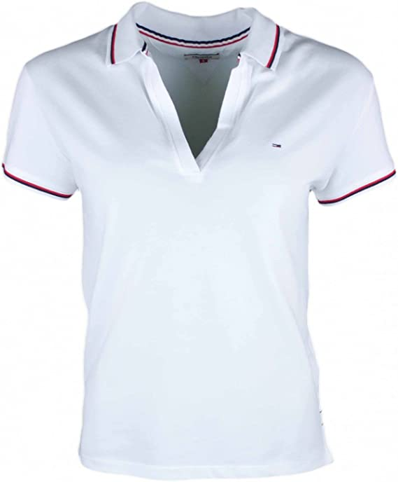 Tommy Jeans - Polo - Blusa - para Mujer Blanco XL: Amazon.es: Ropa ...