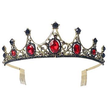 Amazon.com: Sppry - Tiara con peine para mujer, corona de ...