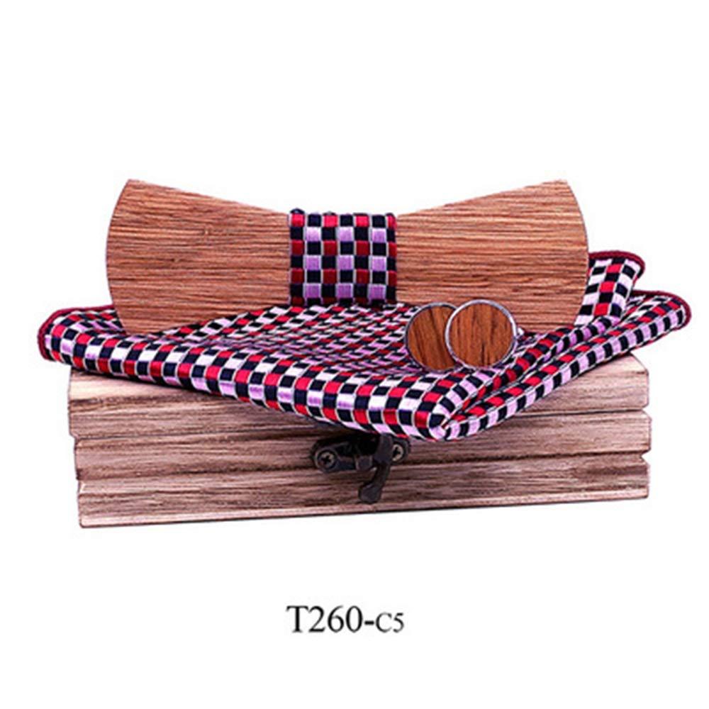Corbata Única Elegante Corbata de lazo de madera maciza Corbata de ...