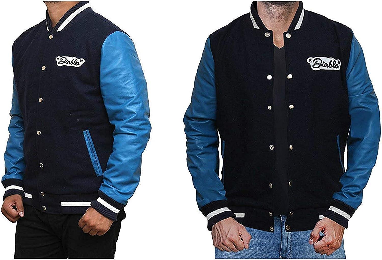 Letter Jackets for Mens Varsity Fleece Jacket Mens Cotton Jacket Blue Fleece Varsity Jacket for Mens