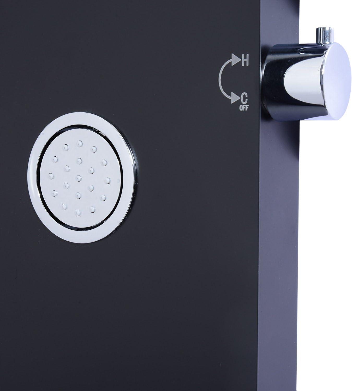 Homcom 2454140031 - panel de ducha multifunciones con temperatura ...