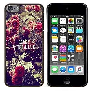 Dragon Case - FOR Apple iPod Touch 6 6th Generation - roads untraveled - Caja protectora de pl??stico duro de la cubierta Dise?¡Ào Slim Fit