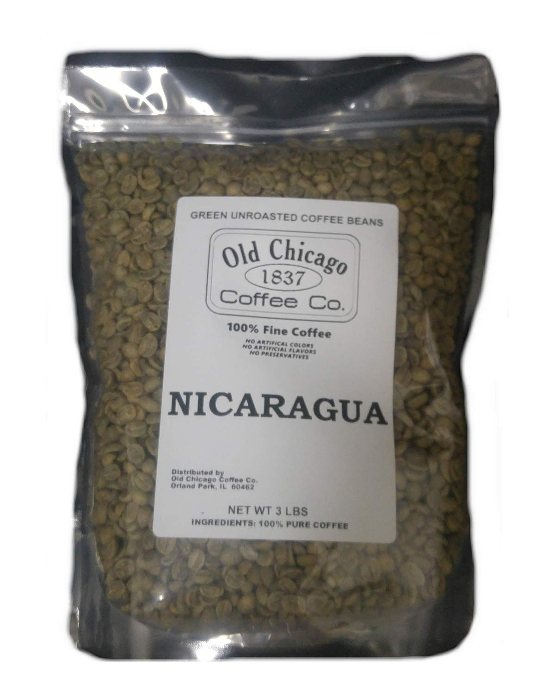 3 Lbs, Single Origin Unroasted Green Coffee Beans - Gourmet Grade From Single Nicaraguan Estate