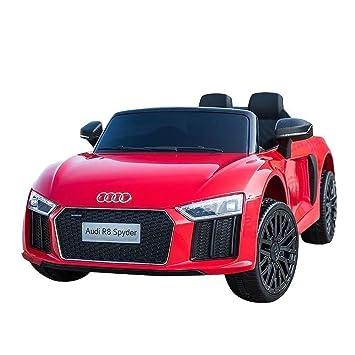 giordano shop Máquina Eléctrica para Niños 12 V Audi R8 Spyder roja