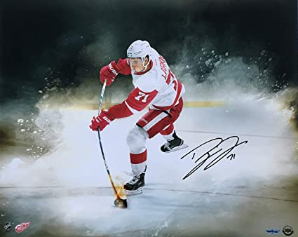 online store bb3b3 fc60b Image Unavailable. Image not available for. Color  Dylan Larkin Signed  16x20 Detroit Red Wings ...