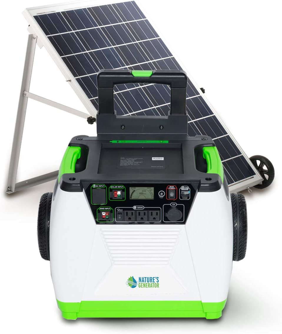 Nature s Generator 1800W Solar Powered Generator, 1 Solar Panel 1 Generator
