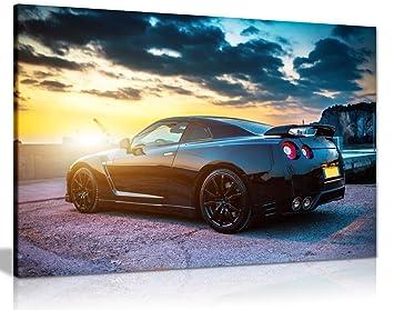 Nissan GTR - cuadro decorativo (impresión de imágenes, A3 46x31 cm (18x12in): Amazon.es: Hogar