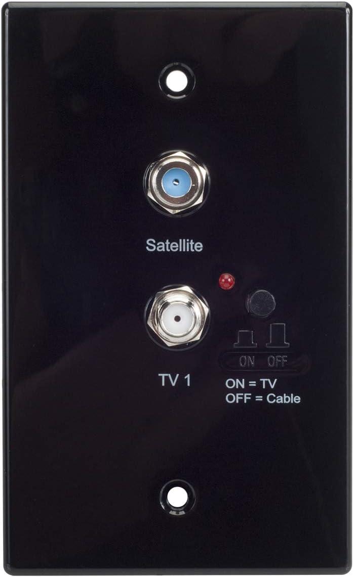 Magnadyne RVTV-B2 Omni-Directional Amplified TV//AM//FM Antenna and Distribution Plate Black