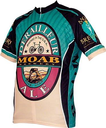 5b9a213815f World Jerseys Moab Brewery Derailleur Ale Mens Cycling Jersey (XXX-Large)