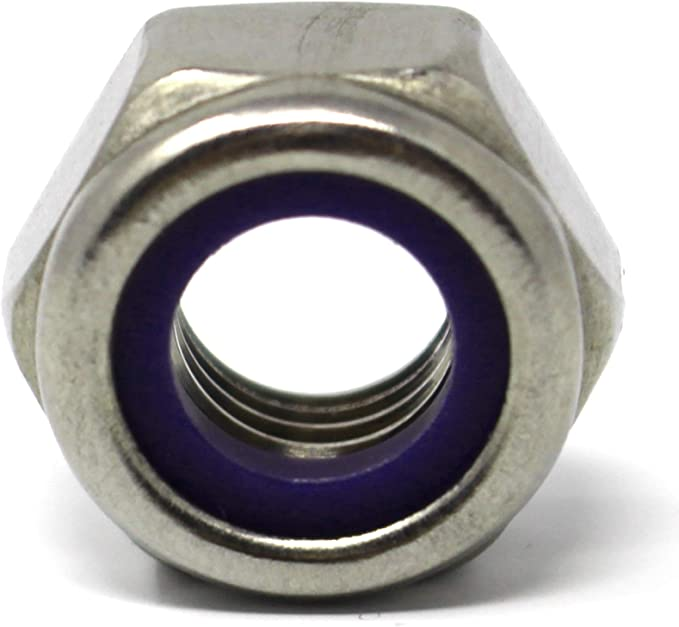 Sicherungsmuttern hohe form M12 DIN 982 ISO 7040 Edelstahlmuttern Stopmuttern Klemmmuttern selbstsichernde Sechskantmuttern M12 10 St/ück