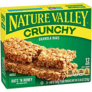 Nature Valley Crunchy Granola Bar, Oats 'N Honey, 12 Ct, 12 Boxes