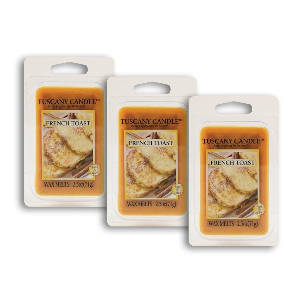 3パック – フレンチトーストTuscany CandleワックスMelts Fragranceバー、2.5-ounce B01EGW7ZA0
