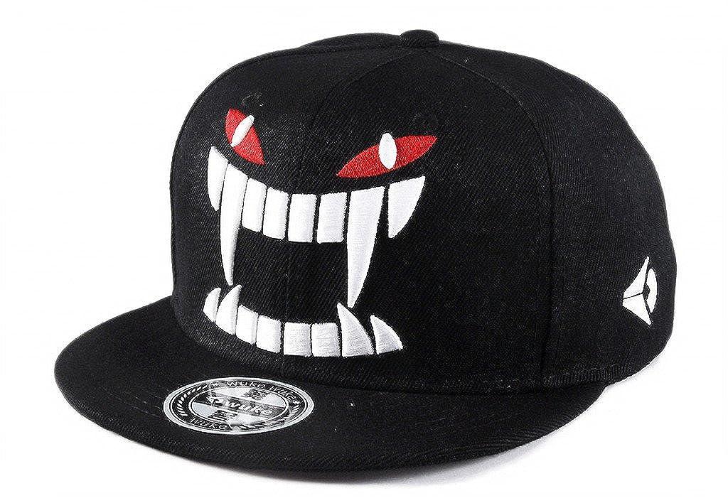 TESOON Adjustable Canvas Flat Hat Baseball Cap Hip Hop Snapback Hats