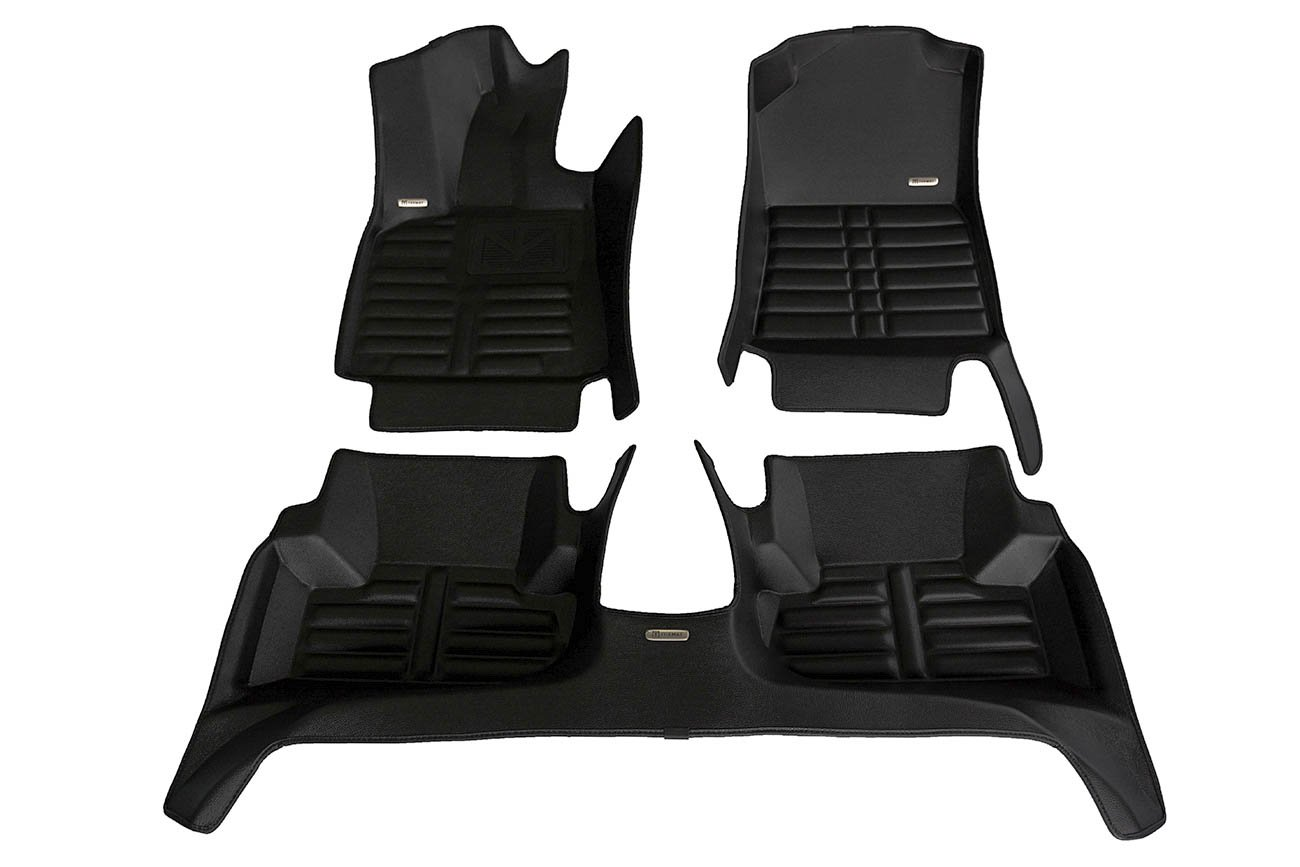 TuxMat Custom Car Floor Mats for Audi Q5 2009-2017 Models - Laser Measured, Largest Coverage, Waterproof, All Weather. The Ultimate Winter Mats, Also Look Great in the Summer. The Best Audi Q5 Accessory. (Full Set - Black)