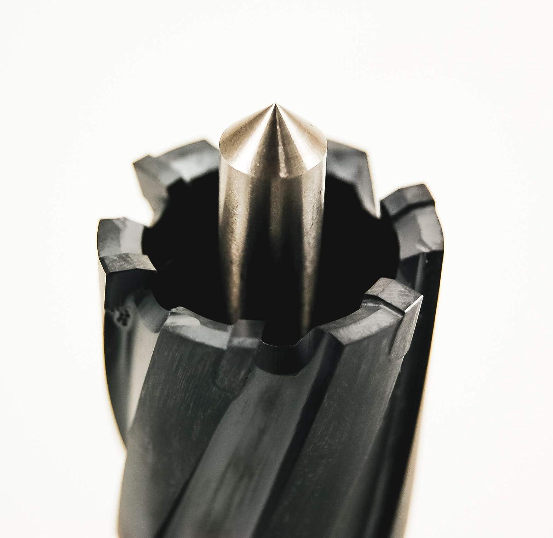 "TiAlN Coating 1-1//16/"" X 1-3//4/"" annular cutter carbide Triple-cut weldon shank"