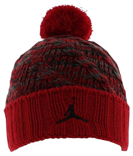 fd09f7a1b Amazon.com: Nike Jordan Boys' Cable Beanie Gym/Red Size 8/20: Sports ...