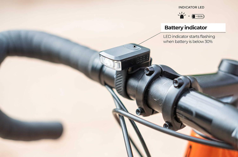   BBB Cycling Bike Light Spark 2.0 USB Rechargeable Front Waterproof Headlight MTB Urban Road 45 Lumen BLS-151 Black