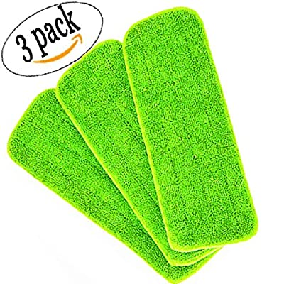 Reveal Mop Head Replacement Pads Cleaning Pad Household Mop Microfiber Filled Mop Cloth Home Mop Dust Mat for All Spray Mops & Reveal Mops Washable ( Pack of 3 ) -- Use Wet or Dry