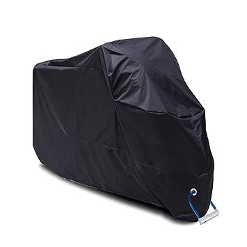 Funda para Moto, YOOFAN 190T Funda para Motocicleta Impermeable de Poliéster, Anti Polvo UV Cubierta para la Moto, Interior o Exterior con Bolsa de ...