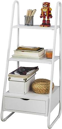 SoBuy FRG219-W Estantería en Escalera,Librería Infantil,2 Estantes y 1 Cajón de Almacenamiento,H115cm,Es: Amazon.es: Hogar