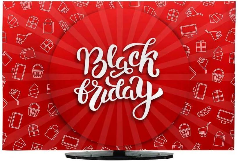 Funda de televisión Vector Realista Aislado Promo Banner para decoración y Cubierta en el Fondo Oscuro Concepto y Venta: Amazon.es: Electrónica