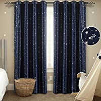 Melodieux Twinkle Star Kids Room Blackout Thermal...