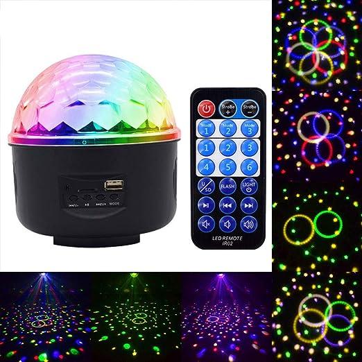 Color light Luz Nocturna Proyector Giratorio Etapa RGB Efecto de ...