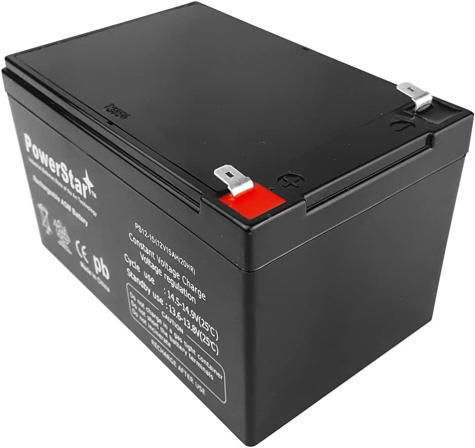 POWERSTAR 12V 15AH Replacement Battery for Peg Perego Gator HPX Toy or Riding Car