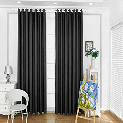 Office drapes Meaning Langria Blackout Curtains Set With Decorative Tiebacks Insulating Lightblocking And Amazoncom Amazoncom Langria Blackout Curtains Set With Decorative Tie