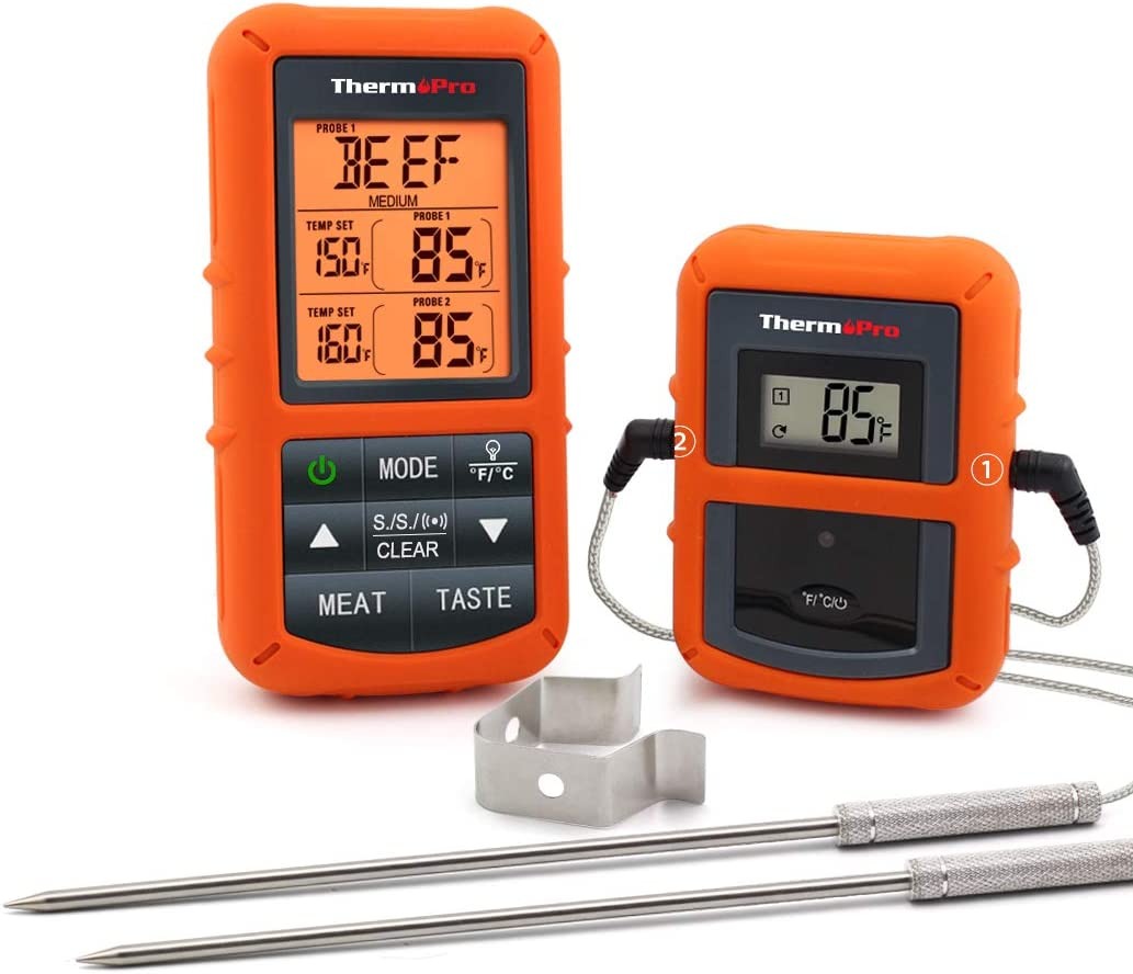 ThermoPro TP20 Wireless Remote Digital Cooking Food Meat Thermometer with Dual Probe for Smoker Grill BBQ Thermometer: Kitchen & Dining