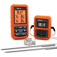 ThermoPro Wireless Remote Digital Cooking Food Meat Thermometer with Dual Probe for Smoker Grill BBQ Thermometer