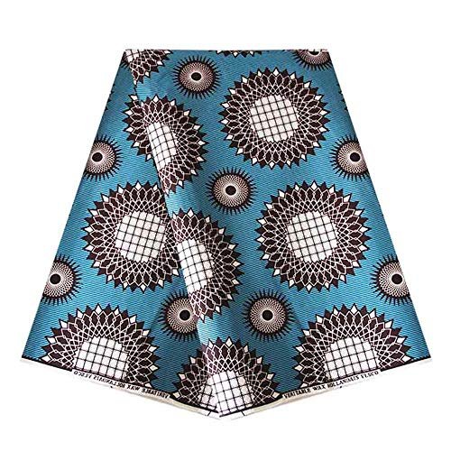 (6 Yard hollandais Dutch Wax Material Real Wax hollandais Ankara Fabric African Prints Fabric Super Holland Guaranteed 100% Polyester Vintage)