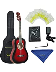 Bailando 39 Inch Classical Guitar, Full-Size Nylon Strings Student Beginner Guitar - Redbburst
